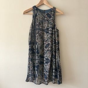 Abercrombie & Fitch Paisly Patterned Navy Dress